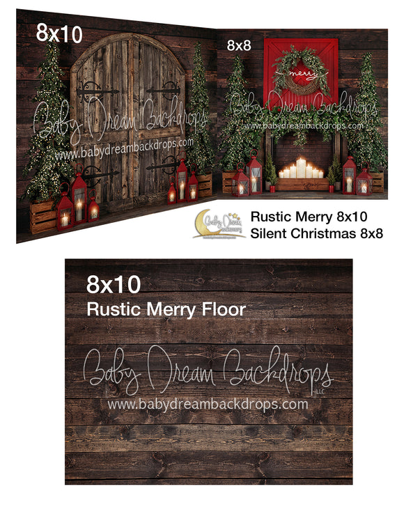 Rustic Merry and Silent Christmas Room