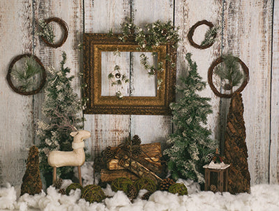 Rustic Christmas with Frame 6x8 ML