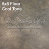 Sandblast Cement Warm Floor 8x8