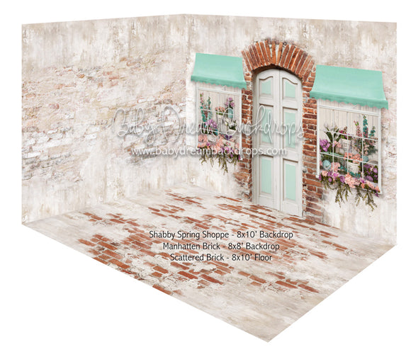 Shabby Spring Shoppe and Manhattan Brick Room