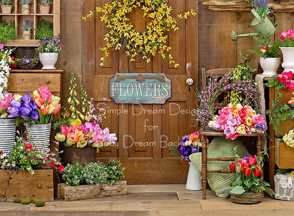 Spring Barn Floral with sign 60hx80w - SD