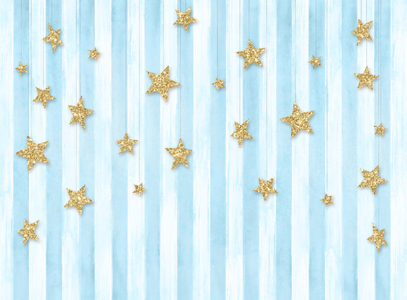 Sweetest Twinkle Stars (blue) -  60x80 Long