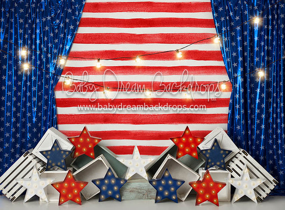 Striped Stars - 60Hx80W - BS (Fleece)