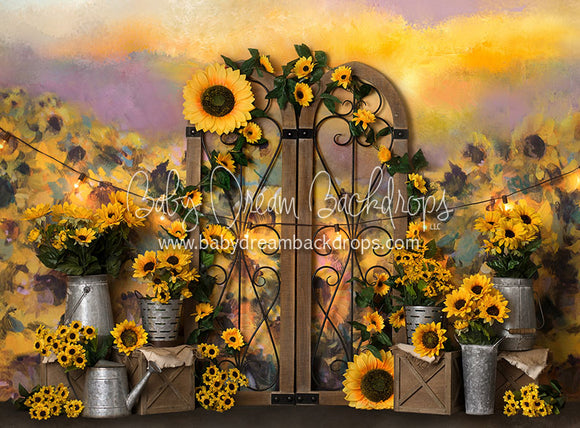 Sunflower Gates - 60Hx80W - BS (Matte Fleece)