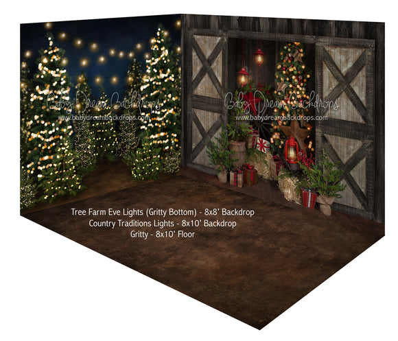 Tree Farm Eve Lights (Gritty) and Country Traditions Lights Room