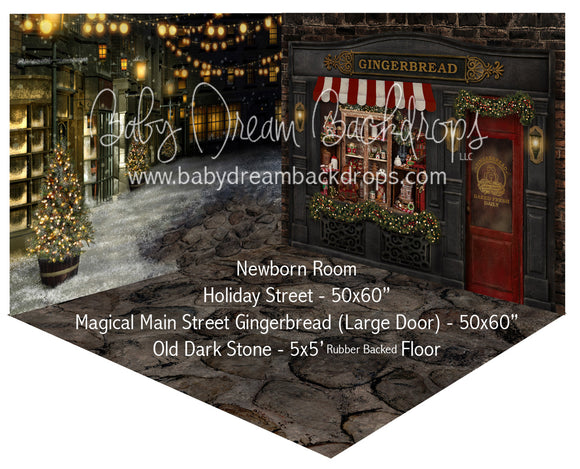 Holiday Street and Magical Main Street Gingerbread (Large Door) Newborn Room
