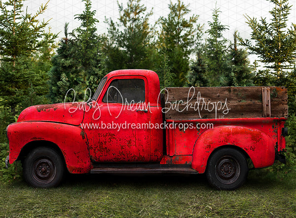 Vintage Red Truck (Smaller)