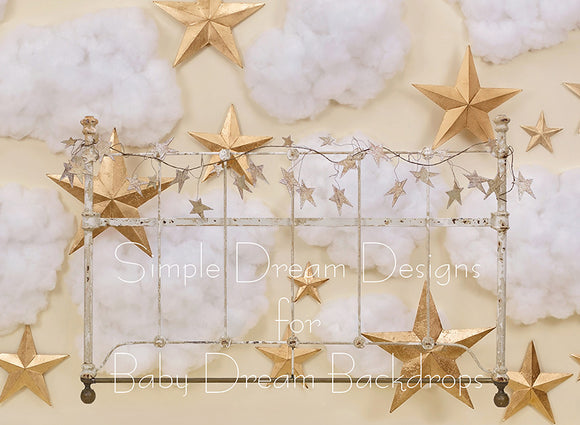 Clouds And Stars Headboard 60Hx80W SD