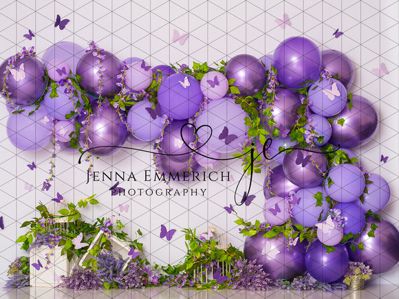 Whimsical Wisteria with Butterflies