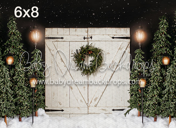 White Rustic Christmas with Lights