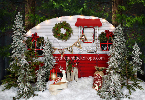 Winter Camper Decorated