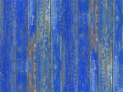 Wood Bright Blue Floor