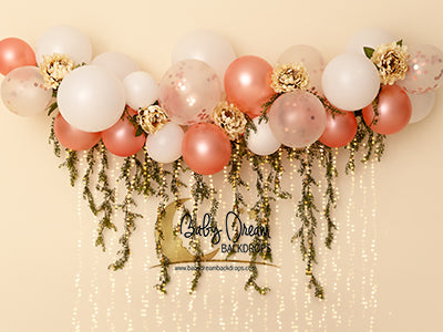Champagne Balloon Garden lights 60hx80w DM