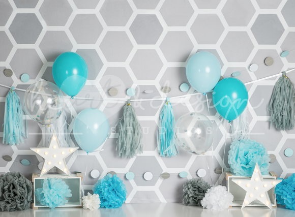 Grey Honeycomb with Props