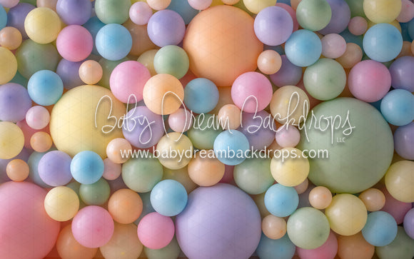 Pastel Balloon Wall