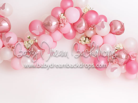 Pink Balloon Garland Butterfly