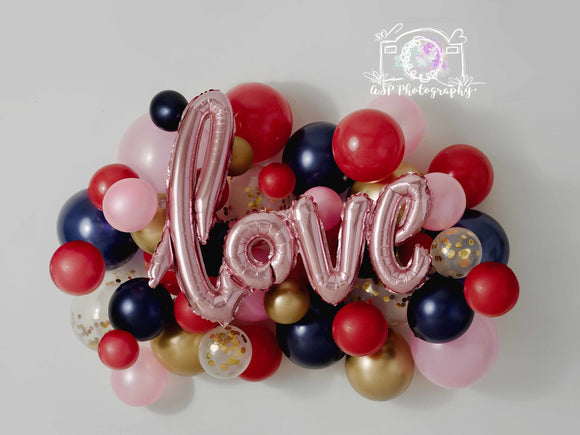 Pink Love Balloons