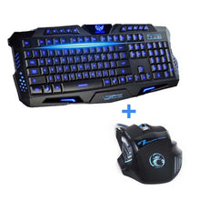 Load image into Gallery viewer, USB Wired LED Backlit Laptop Computer Gamer Keyboard Mouse Combo Optical Professional 7 Buttons 5500 DPI Mice