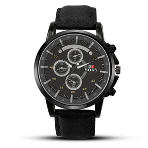 Leather Watch Top Luxury Brand Men Luminous Watches Analog Military