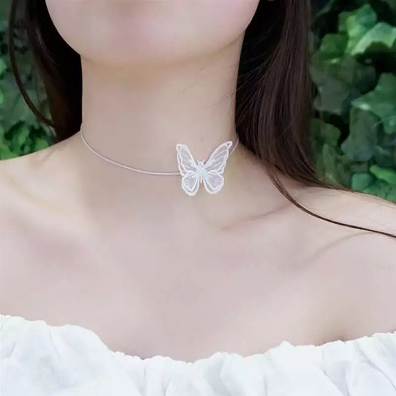 {FREE with Purchase of $25+}  Butterfly Choker Necklace