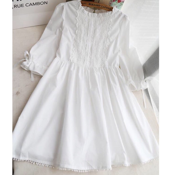 Sienna Angel White Mori Girl Mini Dress