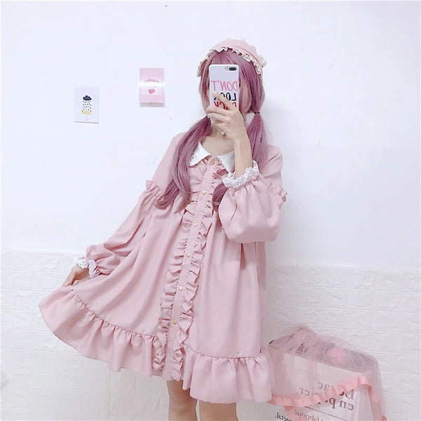 Marlie Sugarberry Kawaii Ruffle Dolly Dress