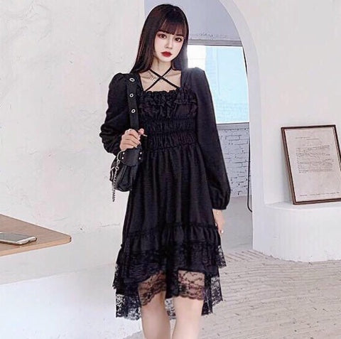 Dark Angel Romantic Gothic Dark Fairy Dress