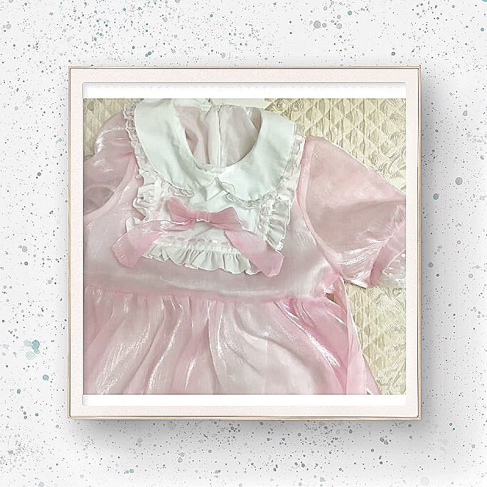 Glass Doll Japanese Lolita Tea Party Dolly Dress