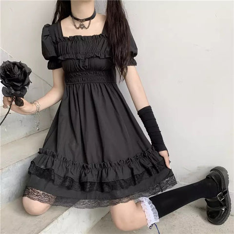 Vampire Tears Short Sleeve Dark Lolita Dress