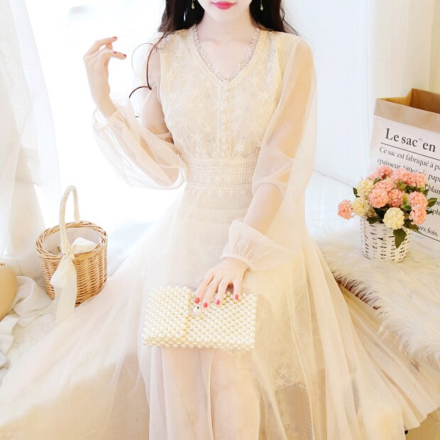 Glitter Star Lace Embroidered Tulle Fairy Dress
