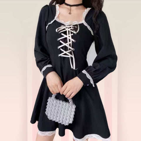 Victoria Dark Lolita Gothic Mini Dress