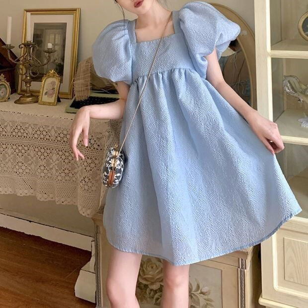 Lynn Pastel Kawaii Oversized Babydoll Mini Dress