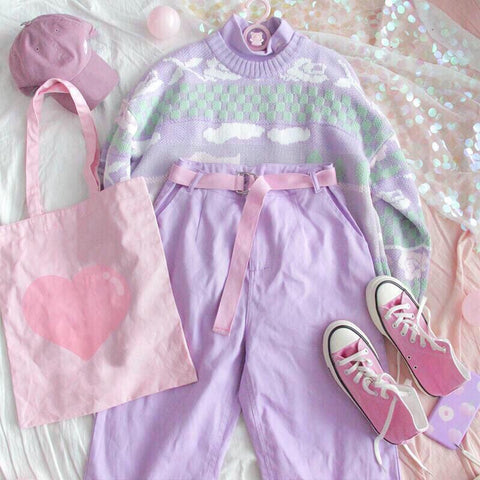 Pastel Kawaii Aesthetic Fairy Kei Duck Sweater