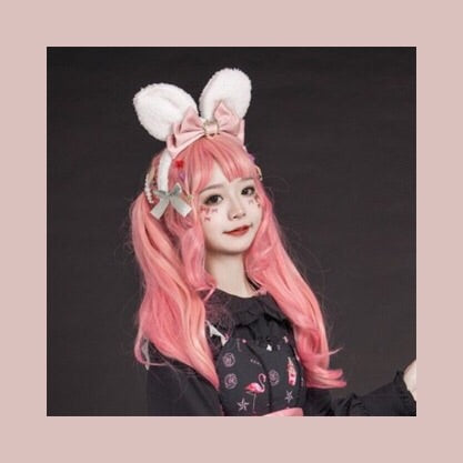 Kawaii Princess Lolita Bunny Ears Bow Headband