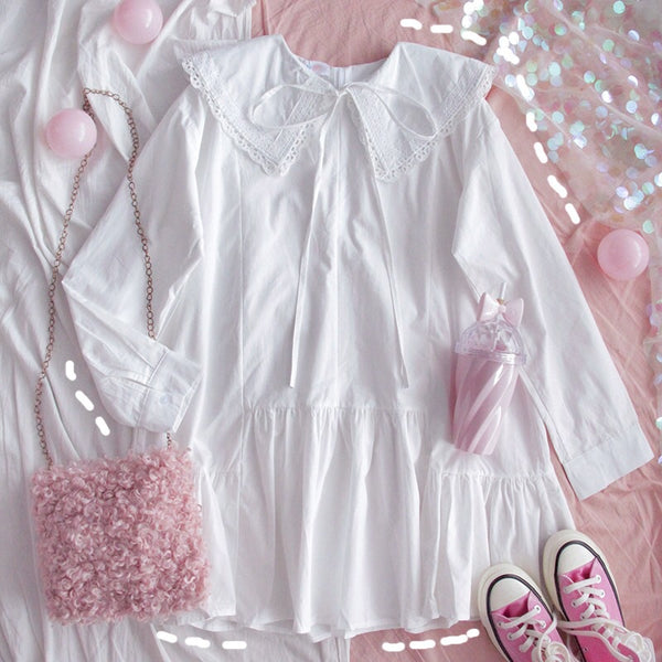 WhiteSky Baby-Doll Casual Shirt Mini Dress