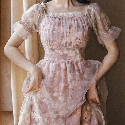 Rainpetal Soft Girl Vintage-Style Romantic Cottage Fairy Dress