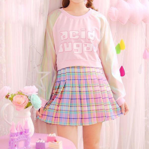 Acid Sugar Crop Top Pastel Kawaii Aesthetic