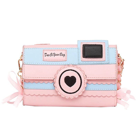 Pastel Aesthetic Kawaii Camera Purse Bag