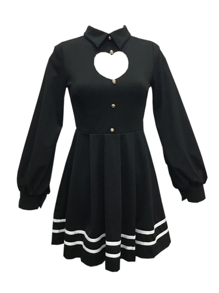 Hollow-out Heart Kawaii Mini Dress