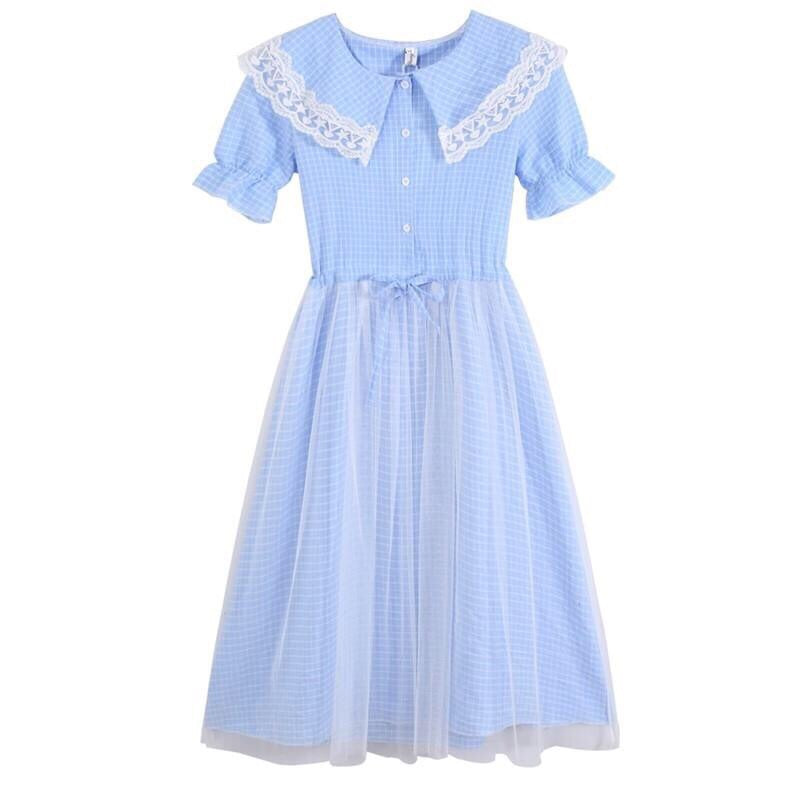 Lace & Tulle Cottage Aesthetic Summer Dress