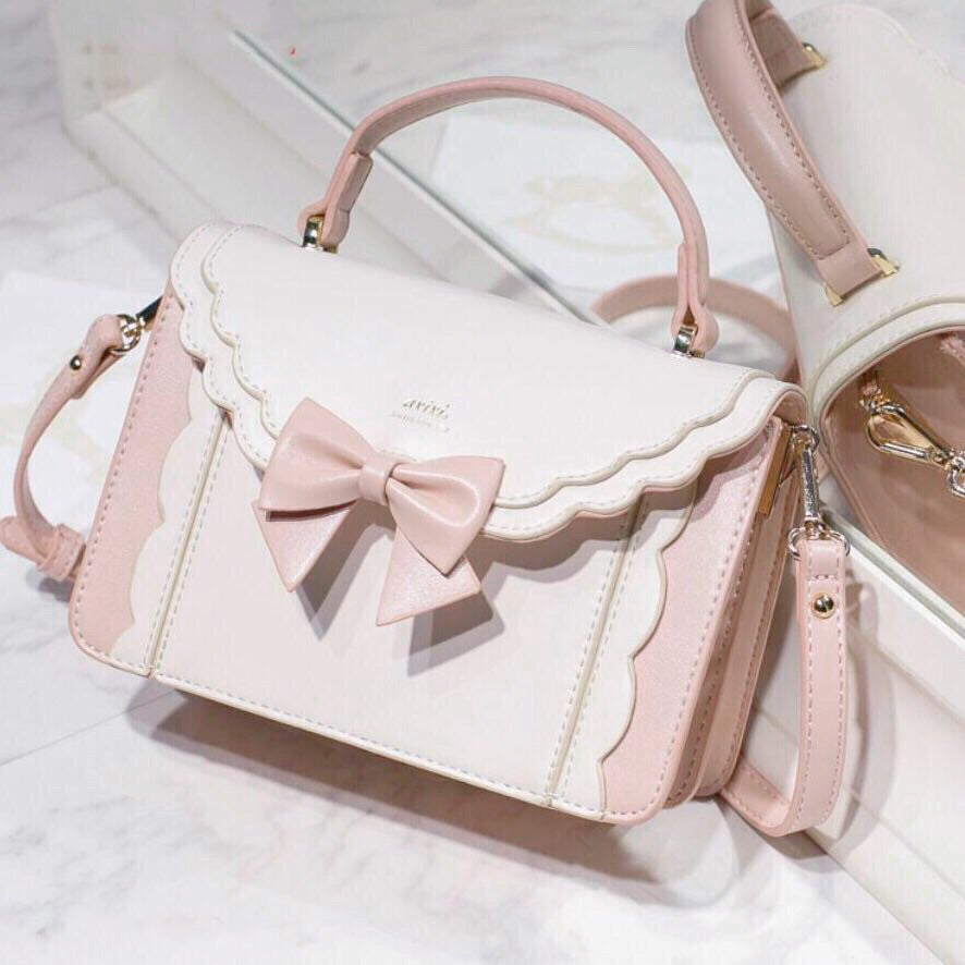 Cute Bow Pastel Pink Aesthetic Kawaii Lolita Bag