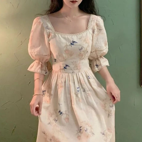 Isabel Grace Cotton Linen Romantic Vintage-style Princess Dress