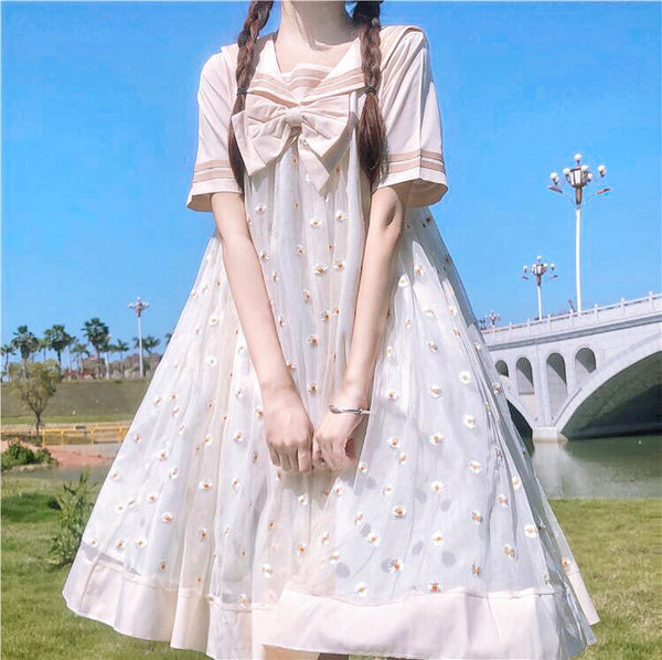 Softest Daisy Kawaii A-line Fairy Lolita Dress