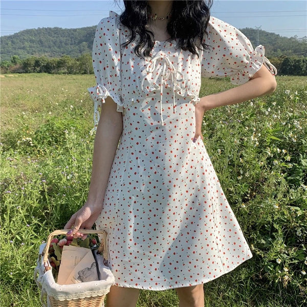 Cherry-Berry Summer Nymphet Mini Dress