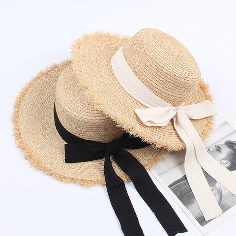 Vintage-Style Summer Boater Lolita Bow Hat