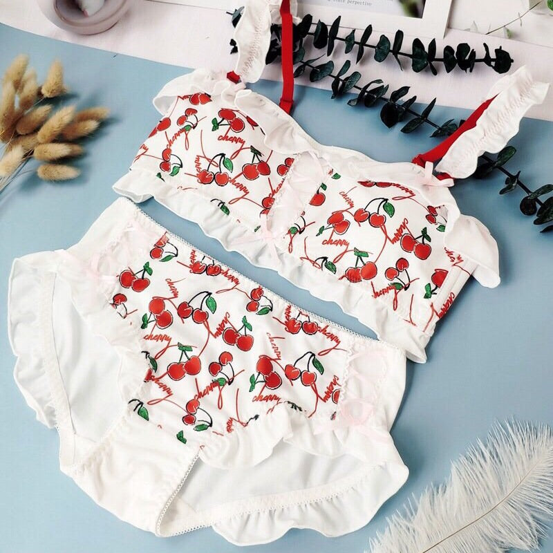 Cherry Nymphet 2-piece Lolita Lingerie Set