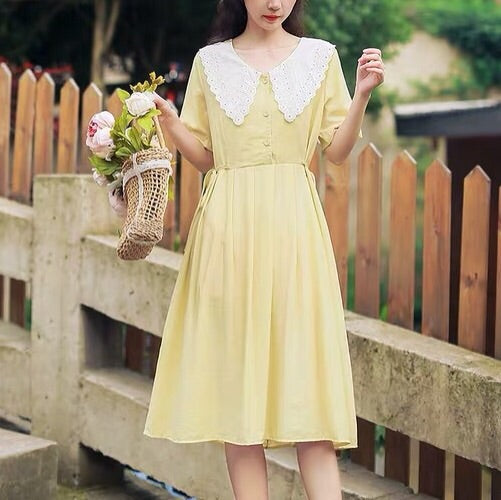 Polly Vintage Style Mori Girl Summer Dress