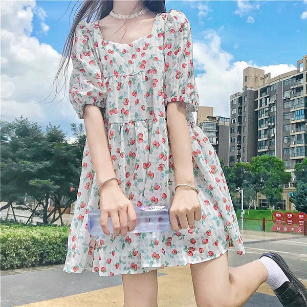 Strawberry Kawaii Fashion Aesthetic Babydoll Tunic