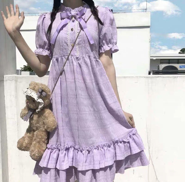 Pastel Purple Kawaii Ruffle Dolly Dress Pastel Aesthetic
