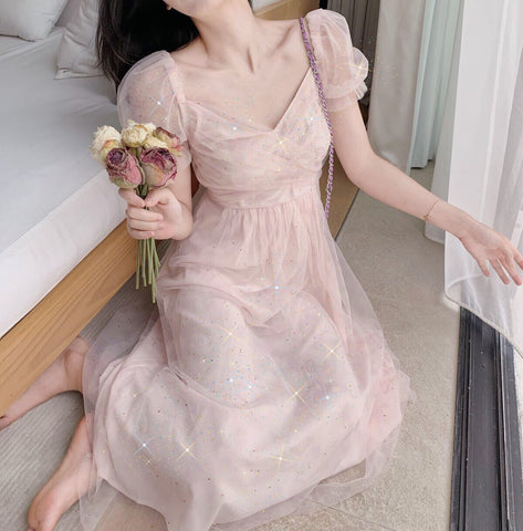 Summer Sparkle Lace Chiffon Fairy Dress